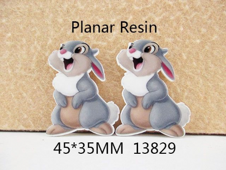 5 x 35mm RABBIT LASER CUT FLAT BACK RESIN HEADBANDS BOWS CARD MAKING PLAQUES